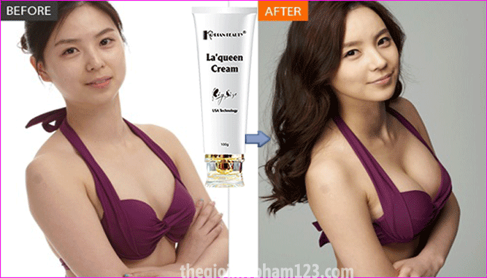 Kết quả sử dụng La'queen Cream Bigsize