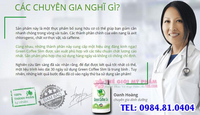 chuyên gia đánh giá green coffee slim