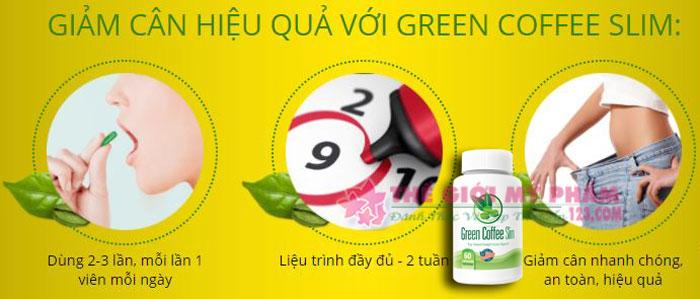 cách dùng green coffee slim