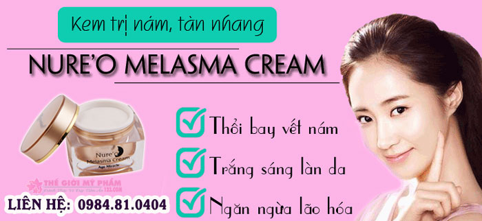 nure'o melasma cream ưu điểm