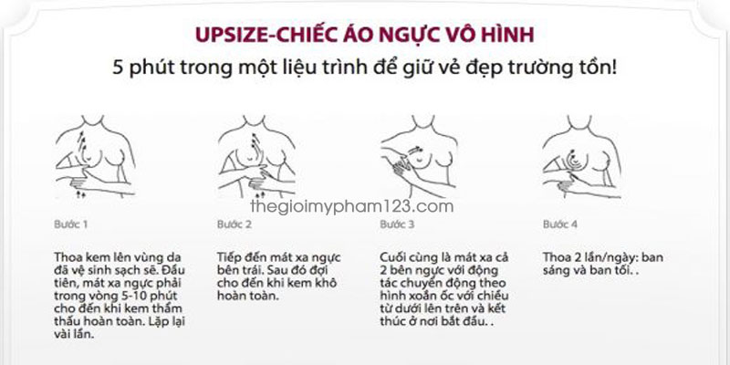 cách dùng nure'o cream upsize