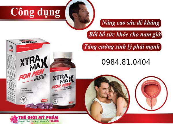 Tác dụng của Xtramax For Men đưa lại cho người dùng