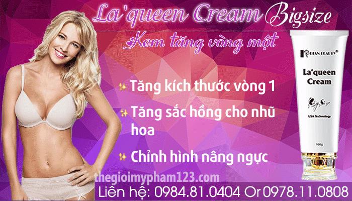 Công dụng La'queen Cream Bigsize