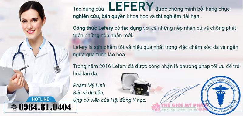 đánh giá chuyên gia Lefery Cream