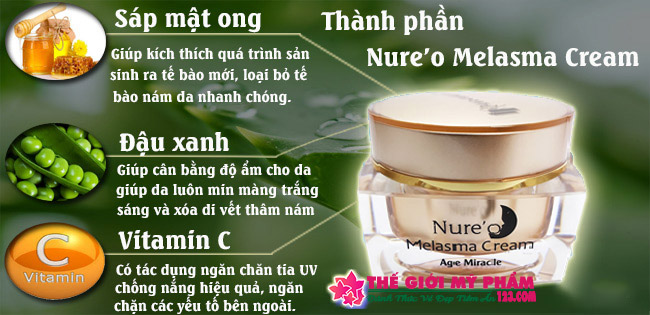 nure'o melasma cream thành phần