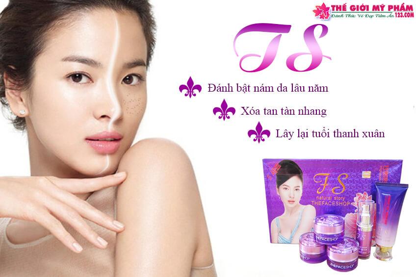 the face shop tím 5in1 hàn quốc