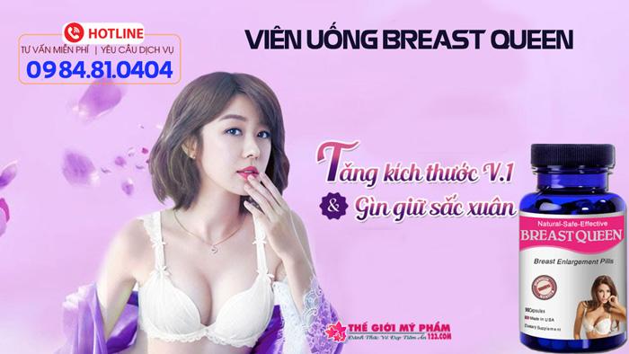 cách sử dụng breast queen