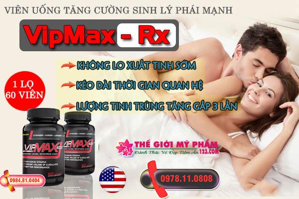 Vipmax Rx hỗ trợ điều trị rối loạn cương dương