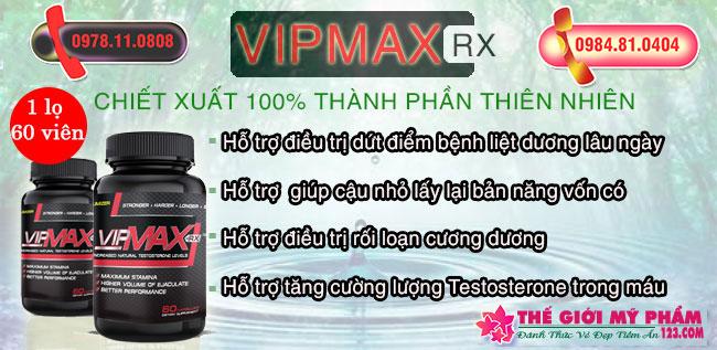 Viên uống Vipmax Rx hỗ trợ điều trị xuất tinh sớm