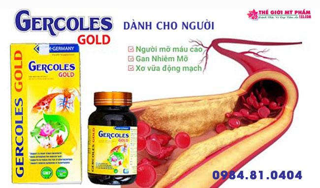 Đối tượng sử dụng Gercoles Gold