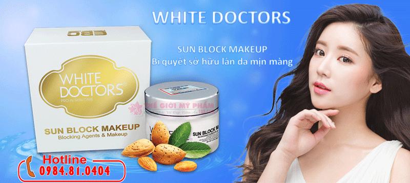 White Doctors Sun Block Makeup Kem Chống Nắng Trang Điểm