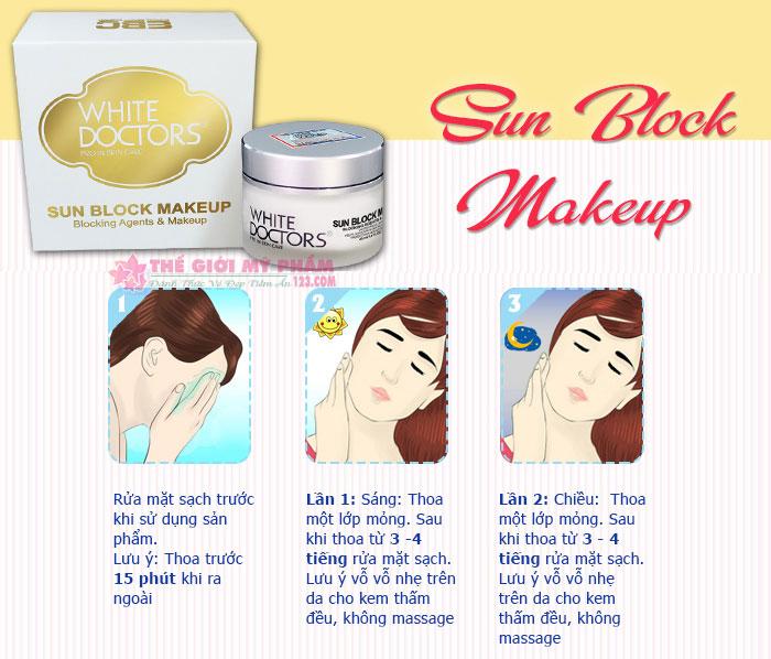cách sử dụng White Doctors Sun Block Makeup