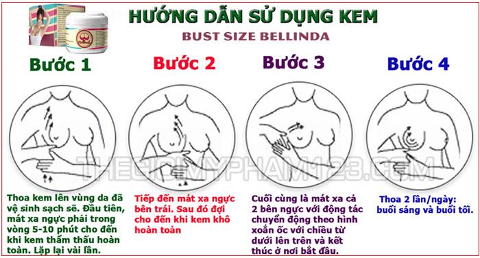 cách sử dụng bust size bellinda