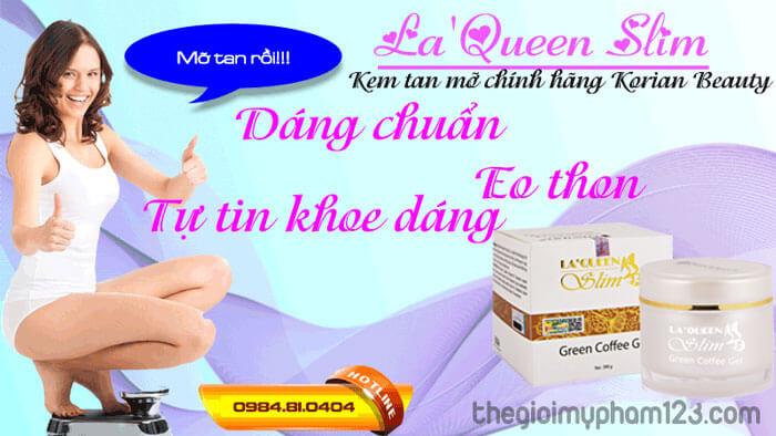 kem tan mỡ bụng chính hãng Korian Beauty La'Queen Slim