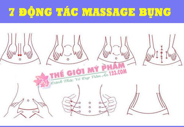 7 động tác hướng dẫn massage làm tan mỡ bụng