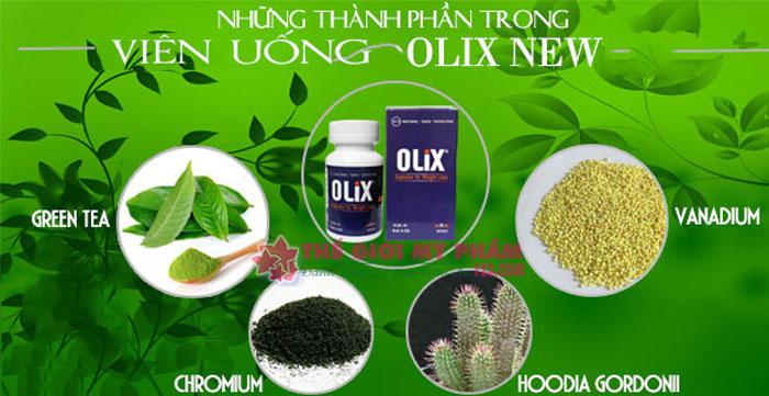 thành phần green coffee olix