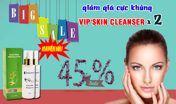 combo 2 vip'skin cleanser