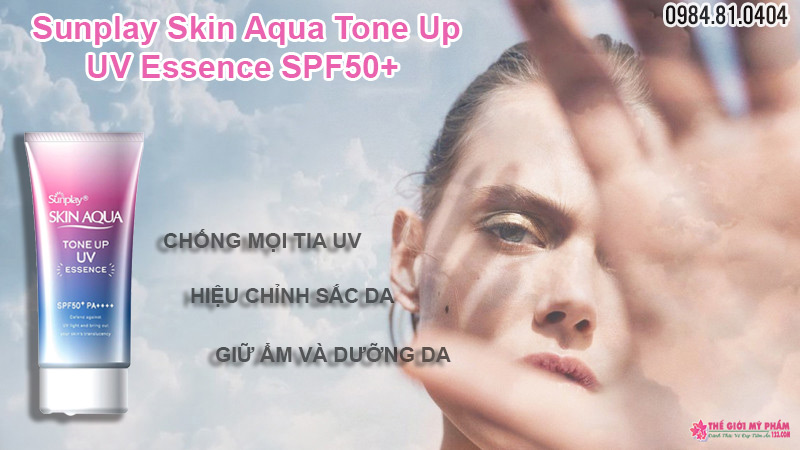 công dụng Sunplay Skin Aqua Tone Up UV Essence SPF50+ PA++++