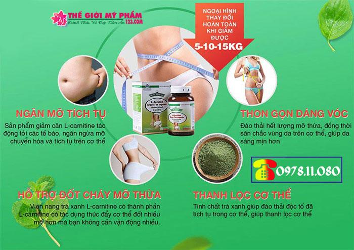 công dụng L-Carnitine Green Tea Capsule