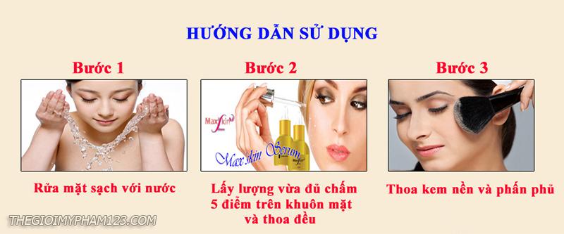 hướng dẫn dùng max'skin serum