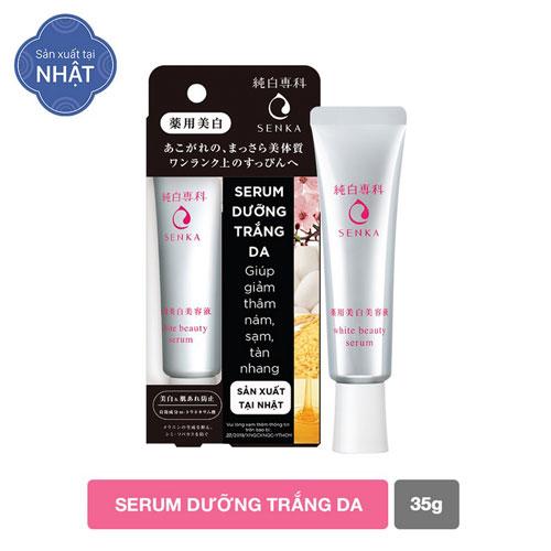 Serum dưỡng trắng da Senka White Beauty