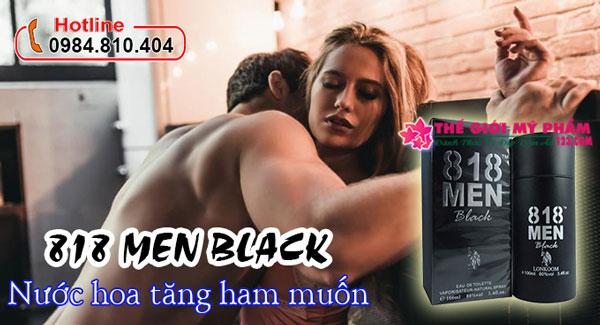 nước hoa kích dục nữ 818 Men BLack