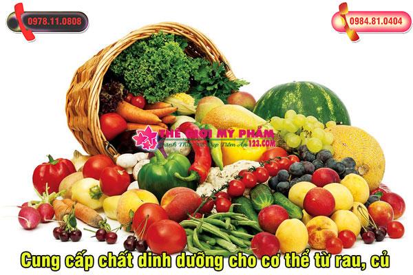 Cung cấp chất dinh dưỡng cho cơ thể từ rau, củ