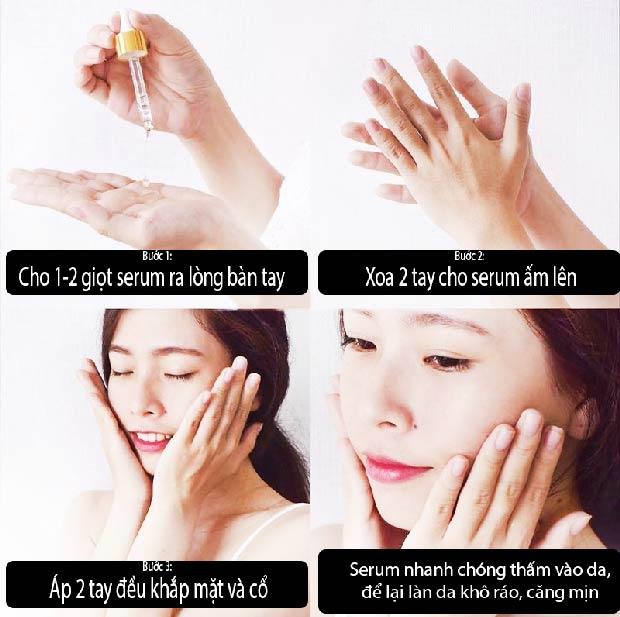 cách sử dụng serum ốc sên perfect care