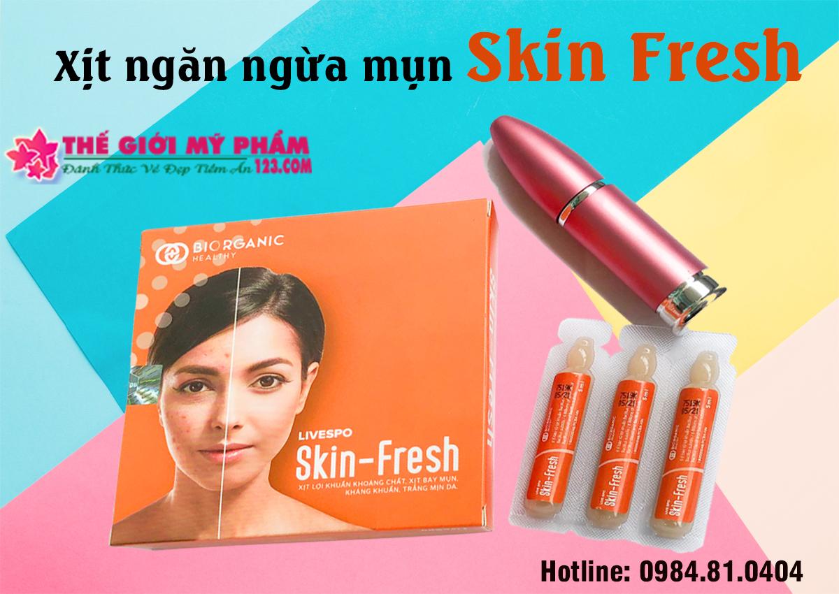 cách dùng xịt Skin Fresh
