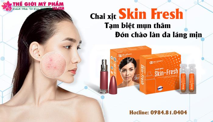 Xịt lợi khuẩn ngăn ngừa mụn skin fresh