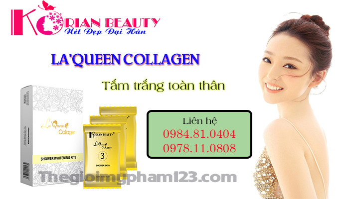 La'Queen Collagen Tắm trắng toàn thân