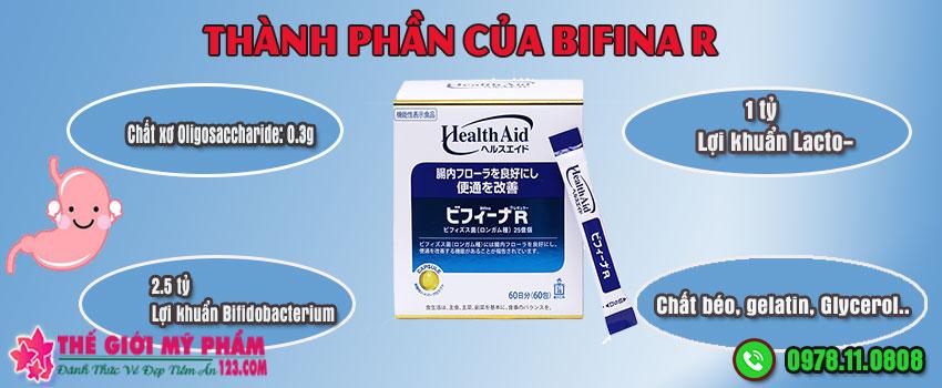 Thành phần của Bifina R