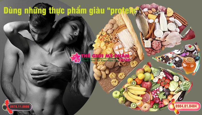 Dùng những thực phẩm giàu protein