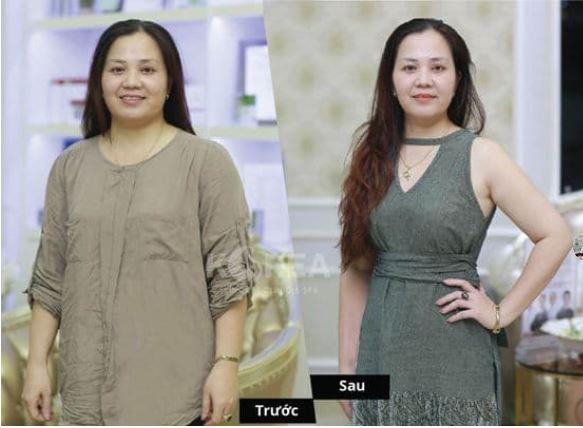 khách hàng sử dụng giảm cân a + b