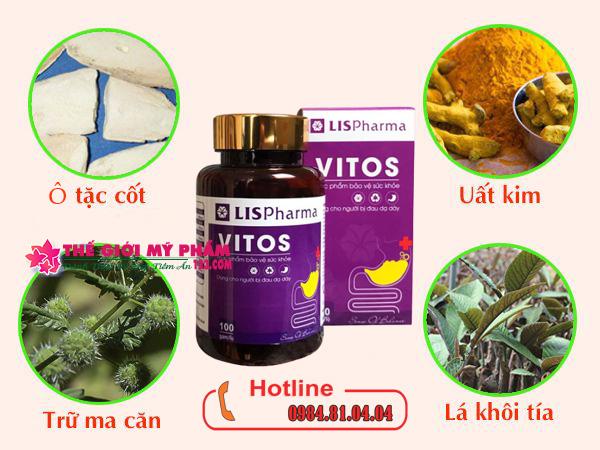 Công dụng của mỗi thành phần trong Vitos
