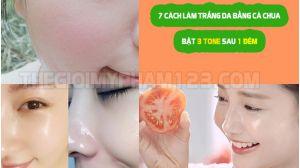 7 cách làm trắng da từ cà chua