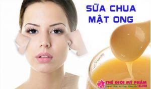đắp mặt nạ sữa chua không đường với mật ong